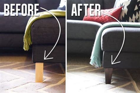 changing sofa legs tips to make your ikea furniture look expensive