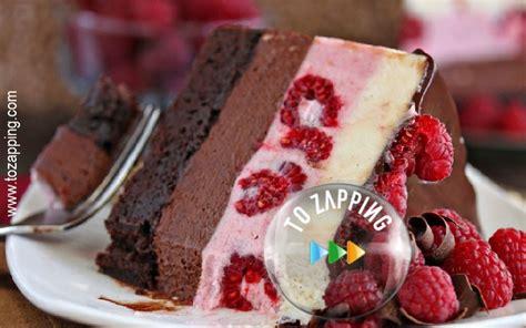 pastel de chocolate con frambuesa delicioso pastel de chocolate con frambuesas tozapping