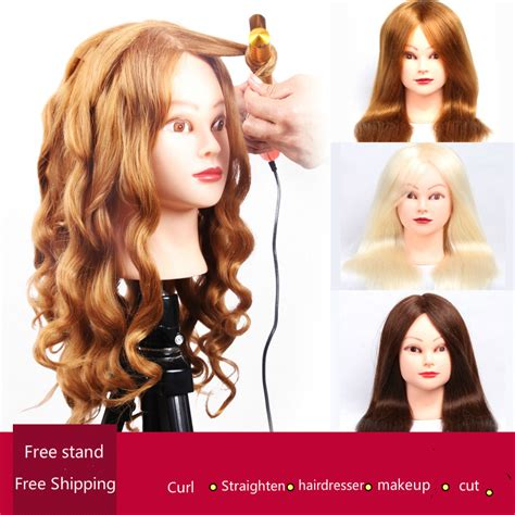 first styling at a professional hair salon hair care talk professional hair styling head manikin head with human