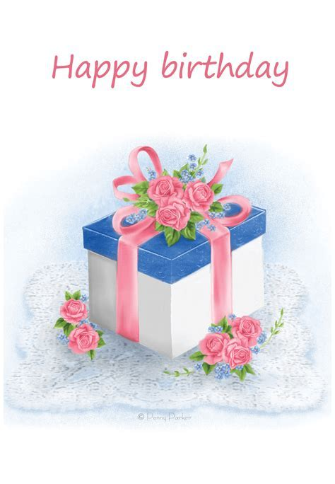 Floral gift   Birthday Card (Free)   Greetings Island