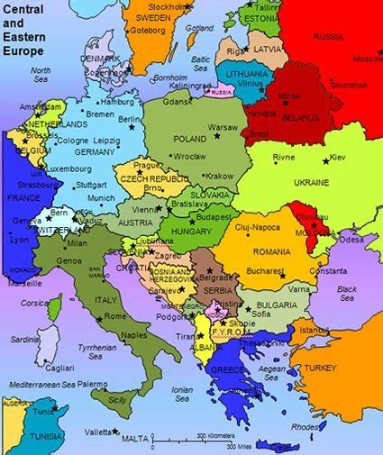map of central europe central and eastern europe maps