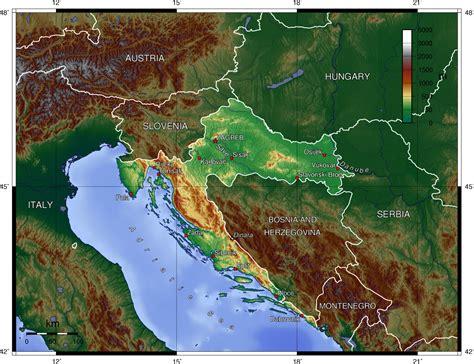 physical map of croatia maps croatia