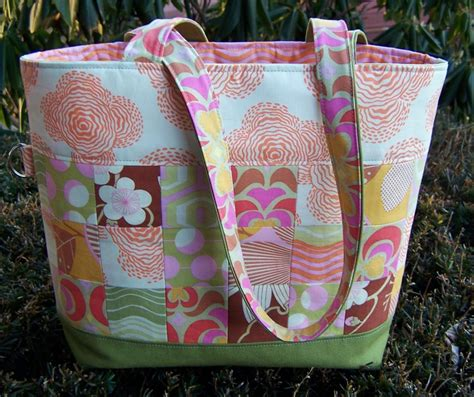 no pattern tote bag quilted tote bag by sherri noel craftsy