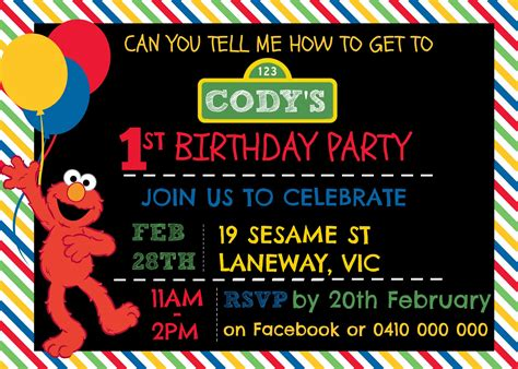how to make a sesame street digital invitation includes