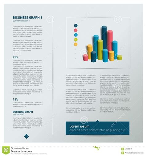 Brochure Flyer Newsletter Annual Report Layout Template Cartoon Vector Cartoondealer Com Annual Newsletter Template
