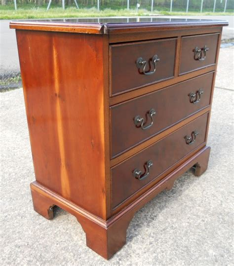 Small Wooden Chest Of Drawers by Sold Small Yew Wood Chest Of Drawers