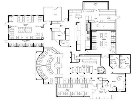 resturant floor plans ideas graet deal of the restaurant floor plan simple