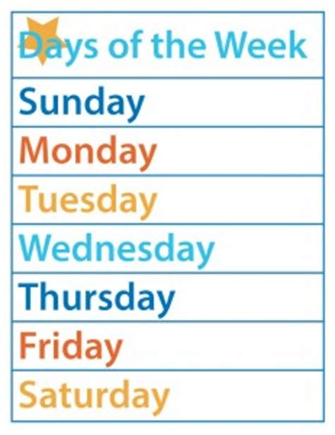printable worksheets days of the week printable days of the week new calendar template site