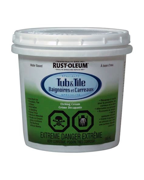 rustoleum bathtub paint rust oleum tub tile etch 280605 in canada