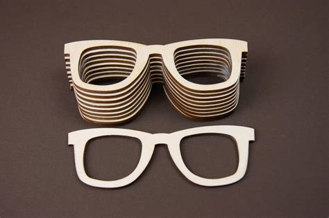 holz bemalen kinderzimmer 10x blanko brille fasching holz bemalen basteln dekoration