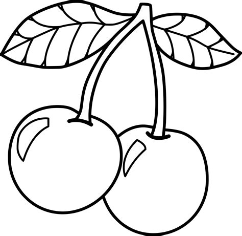 coloring picture cherry coloring page