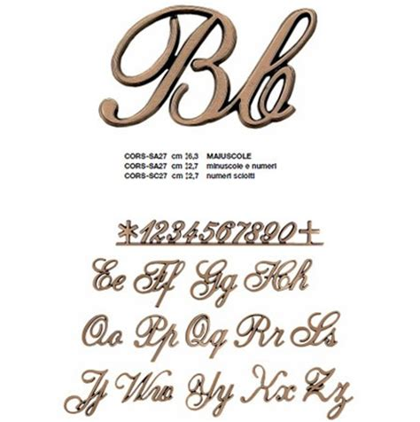 caratteri lettere caratteri saldati per epigrafi bronzo
