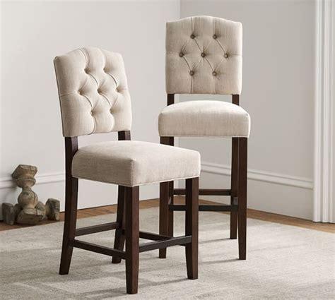 tufted bar stools ashton tufted barstool pottery barn