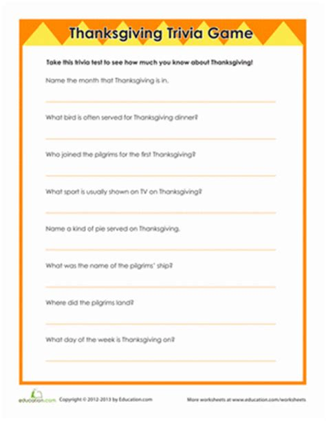 best thanksgiving trivia question thanksgiving trivia worksheet education