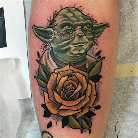 cartoon yoda tattoo starwars tattoo starwarstattoo yoda on instagram