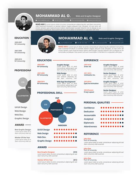 Cv Templates For Free 30 Free Beautiful Resume Templates To Hongkiat