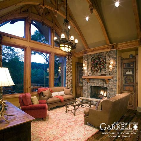 craftsman home interior design garrell associates inc nantahala cottage house plan