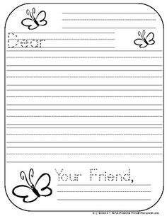 friendly letter template first grade search results