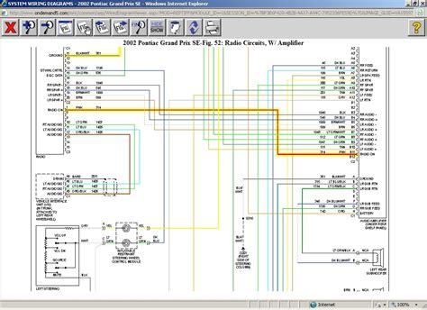 car stereo wiring diagram    pontiac gran prix