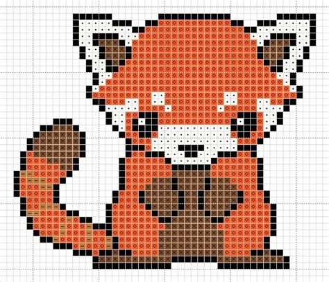 red panda pattern by zaraphena on deviantart