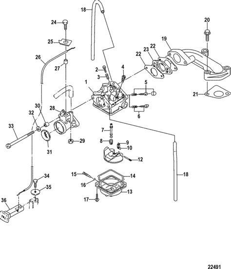 mercury marine   stroke carburetor carburetor serial    parts