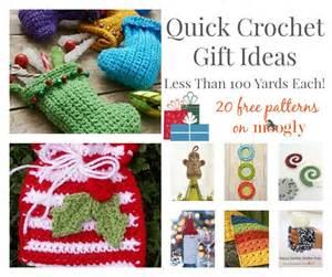 quick crochet gift ideas less than 100 yards each