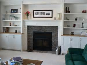 fireplaces with bookshelves on each side shelves by
