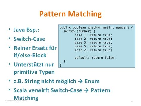 scala pattern matching with string einf 252 hrung in scala im vergleich mit java