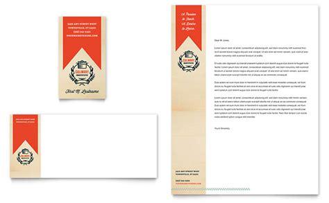 arts council education business card letterhead template word