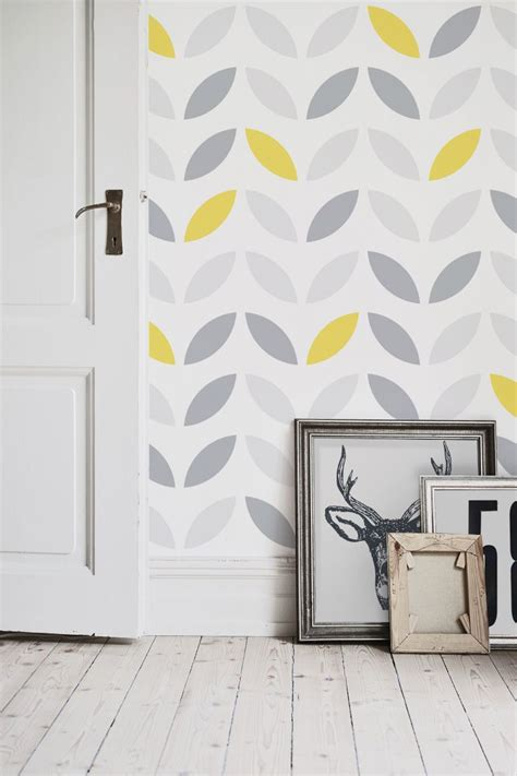 abstract kitchen wallpaper yellow and grey abstract flower pattern wallpaper yellow