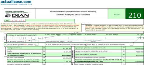 dian declaracion de renta 2014 personas formulario dian 2015 newhairstylesformen2014 com
