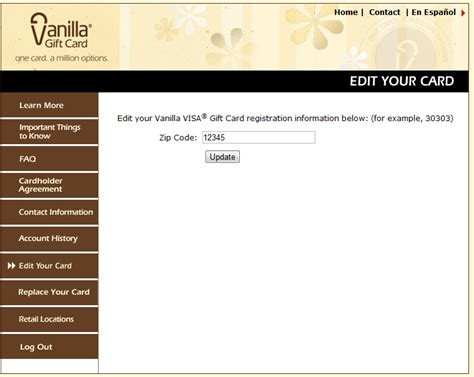 Gift Card Zip Code - visa vanilla gift card balance inquiry lamoureph blog