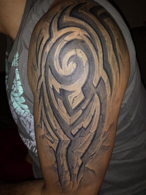 3d effect stonework tattoos 3d