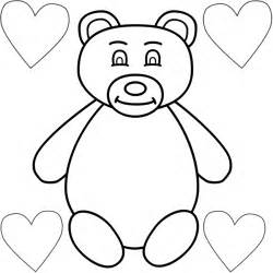 Flower Connect The Dots - teddy bear with four hearts coloring page mother s day