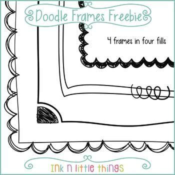 free doodle border freebie this set includes 4 free doodle frames most