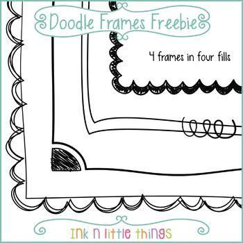 doodle freebie freebie this set includes 4 free doodle frames most