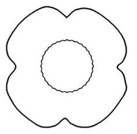 poppy template for children lyneham about us clipart best clipart