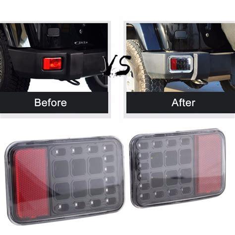 led bumper backup lights pair led rear bumper fog parking reverse brake lights l