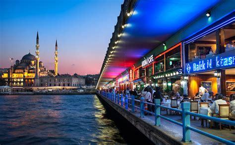 Drone Terbagus yeni cami mosque beyond galata bridge istanbul turkey