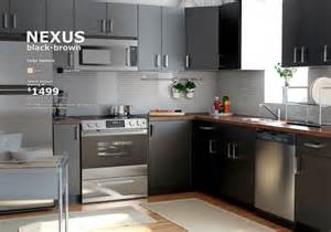 home something nexus brown cabinets with walnut