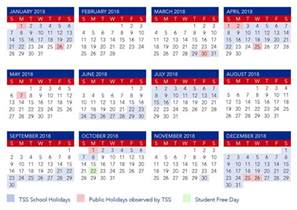 2018 Calendar Qld Calendar The Southport School