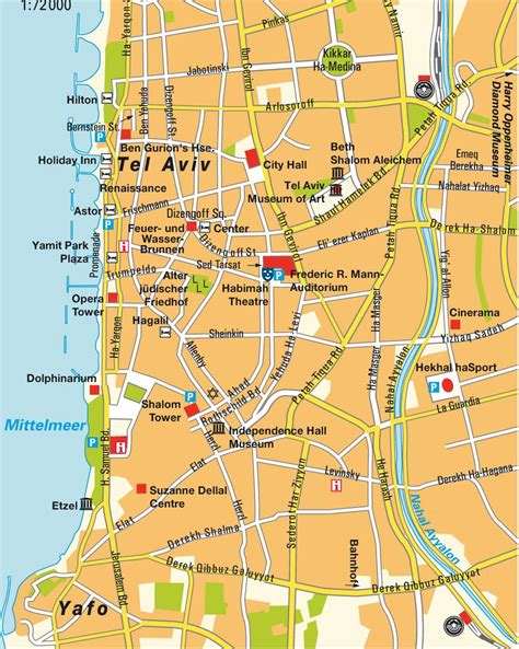 tel aviv map map of tel aviv free printable maps