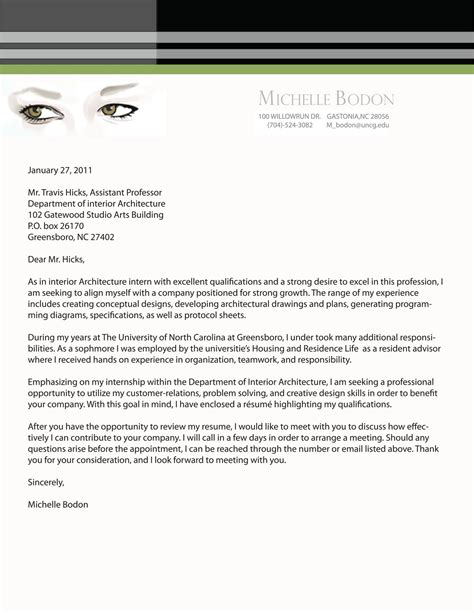 cover letter for portfolio exle design cover letter resume and portfolio