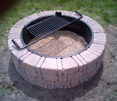 fire pit ring fire ring lowes fire pit insert lowes