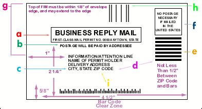 usps business reply mail template bre specs