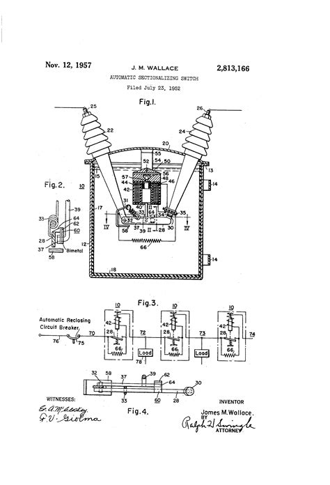 sectionalizing switch patent us2813166 automatic sectionalizing switch