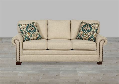 With Nailhead Trim by Custom Upholstered Fabric Sofa Nailhead Trim Custom