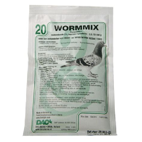 Pigeon Powder 100 Gr pigeon product wormmix powder 100g hair and roundworm