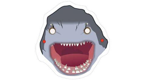 printable shark mask template printable shark mask grandkids bedroom pinterest