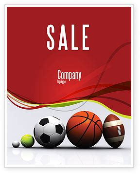 templates for sports posters sport balls sale poster template in microsoft word